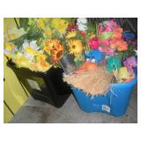 2 Totes Artificial Flowers