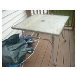 Glass top Patio Table, 42x42x30