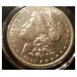 1884 US Morgan Silver Dollar