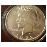 1922 US Peace Silver Dollar