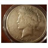 1927 US Peace Silver Dollar