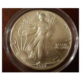 1987 US American Eagle Liberty Silver Dollar