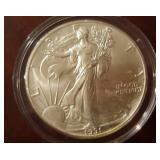 1991 US American Eagle Liberty Silver Dollar