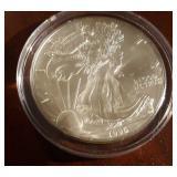1996 US American Eagle Liberty Silver Dollar
