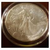 1990 US American Eagle Liberty Silver Dollar