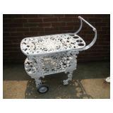 Wrought Iron Tea Cart  35x16x24 Inches