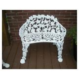 Wrought Iron Patio Bench   Width 31 Inches /