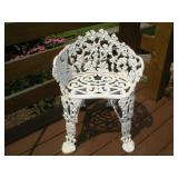 Wrought Iron Patio Chair  27 Inches Tall
