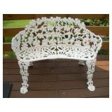 Wrought Iron Patio Bench   Width 38 Inches /