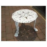 Wrought Iron Patio Side Table  20x15 Inches