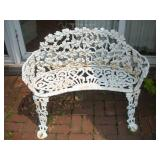 Wrought Iron Patio Bench  Width 38 Inches
