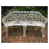 Wrought Iron Patio Bench  Width 57 Inches
