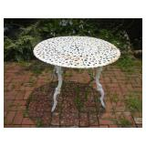 Wrought Iron Patio Table  40x26 Inches