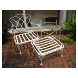 Patio Chair, Ottoman & Table (No Cushions)