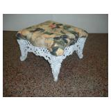 Wrought Iron Stool  12x12x9 Inches