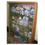 Large Country Village Diorama  40x10x50 Inches