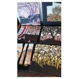 6 Hawian Trees Painting on Canvas 12 x 12 inch