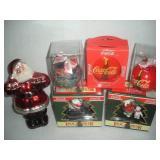 Coca-Cola Christmas Ornaments-Glass Blown Santa