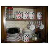 Coca-Cola Plates and Mugs-Contents of Cabinet