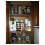 Contents of Cabinet-Souvenir Glasses and Mugs