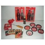 Coca-Cola Memorabilia-Pen Sets, Coasters, Ice