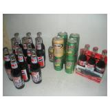Coke, Pepsi, Mellow Yellow Bottles and Cans