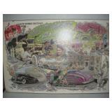 Custom Hot Rods Print, Big Daddy Roth, 34x22