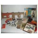 Vintage Train Lot-Wind-up Tin Train Toy, How To