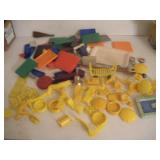 Plastic Doll House Pieces- Marx, Child Guidance