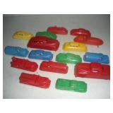 Plastic Renwal Toy Cars, Longest 4 1/2 in.