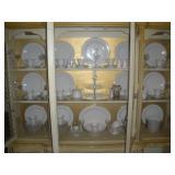 Contents of China Cabinet- China Set, Crystal Glas