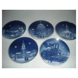 Assorted 4 in. Collectors Plates, Bing and