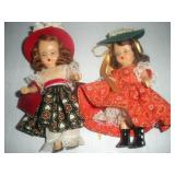 2 Nancy Ann Story Book Dolls, To Market To Market