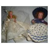 2 Nancy Ann Storybook Dolls, 5 inches