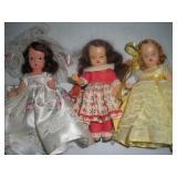3 Nancy Ann Storybook Dolls, 5 1/2 Inches