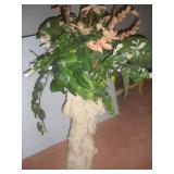 Chalkware Cherub Vase, 28 inches Tall