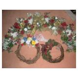Swag (49 inches) and Wreaths