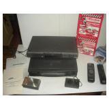 Sony DVD w/remote, VCR, 2 Transistor Radios