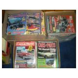 3 Boxes Cars and Parts Magazines