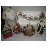 Christmas Lot, Santa Figurines and Music Boxes