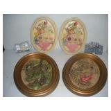 Chalkware 3D Wall Plaques