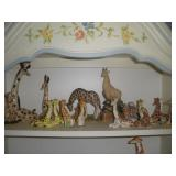 Ceramic Giraffes. Tallest 9 inches