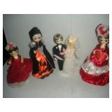 4 Big Eyed Dolls Tallest 12 inches, Holiday