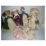 6 Dolls, Tallest 17 inches
