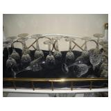 Crystal Wine Glasses and Water Goblets (16),