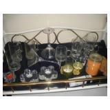 Misc. Glassware-Martini Glasses, Beer Mugs