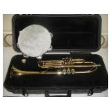 Trumpet, Bach TR 300 and Tambourine