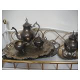 Silver-plate Tea Service and Platters