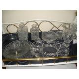 Crystal Platters, Bowls, Pitcher