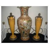 Ceramic Urns (2) and Vase (24 in.)